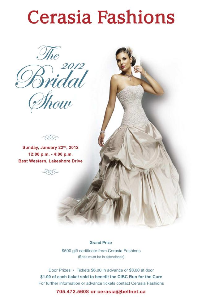 Join Us At The 2012 Ceresia Fashions Bridal Show!