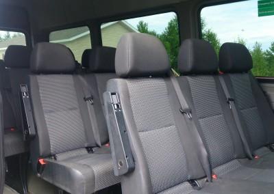 Passenger van seating