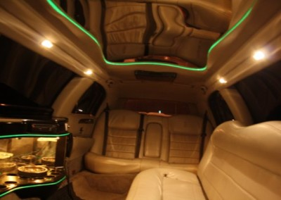 Stretched limo interior