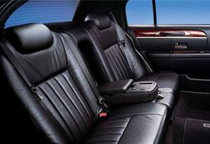 Town car interior